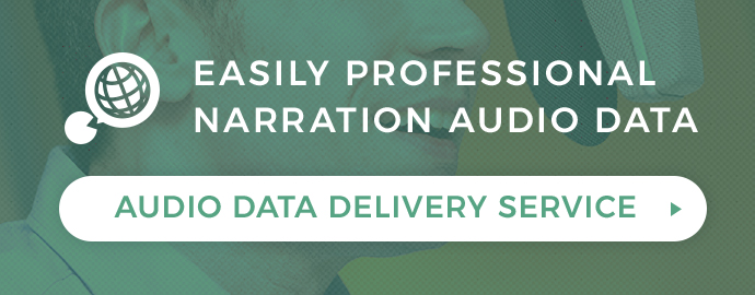 Audio data delivery service VOICE AGENT Just pick a narration voice to easily arrange professional narration voice data MORE
