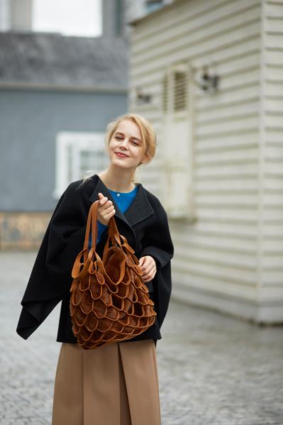 札幌ステラプレイス冬マガジンの外国人モデルのヴィヴィの写真