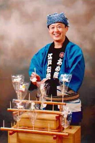 外国人ダンサー・パフォーマー アメ細工の写真1