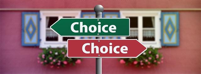選択のイメージ