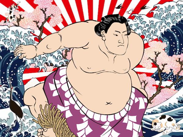 ママ・アミア相撲のイラスト