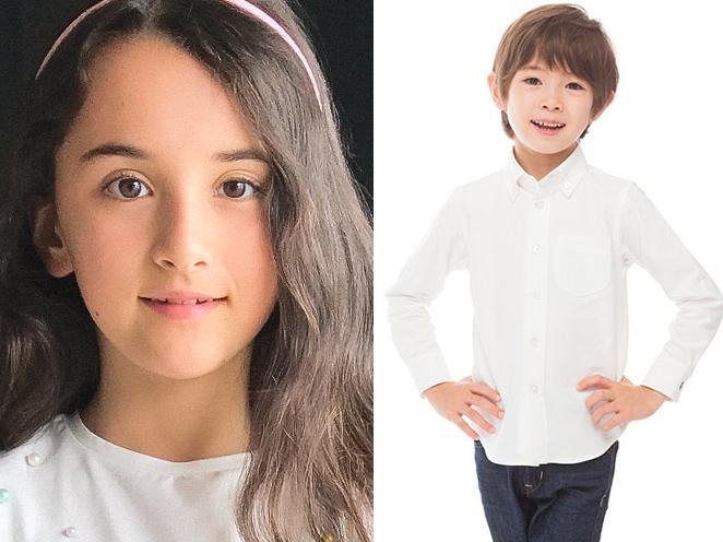 外国人キッズ俳優のジャスミンとキリアン・Wの写真