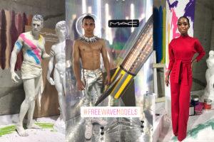 M・A・Cのイベントに登場したフリー・ウエイブの外国人モデルたち