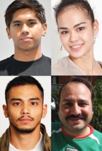 サントリースティングのウェブムービーに出演している外国人モデル4名の写真